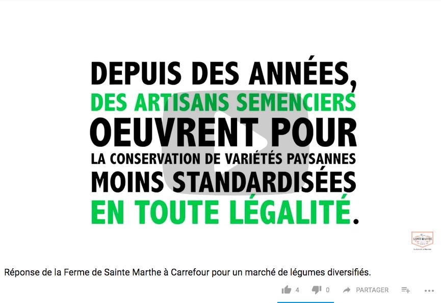 semences diversité #Carrefour
